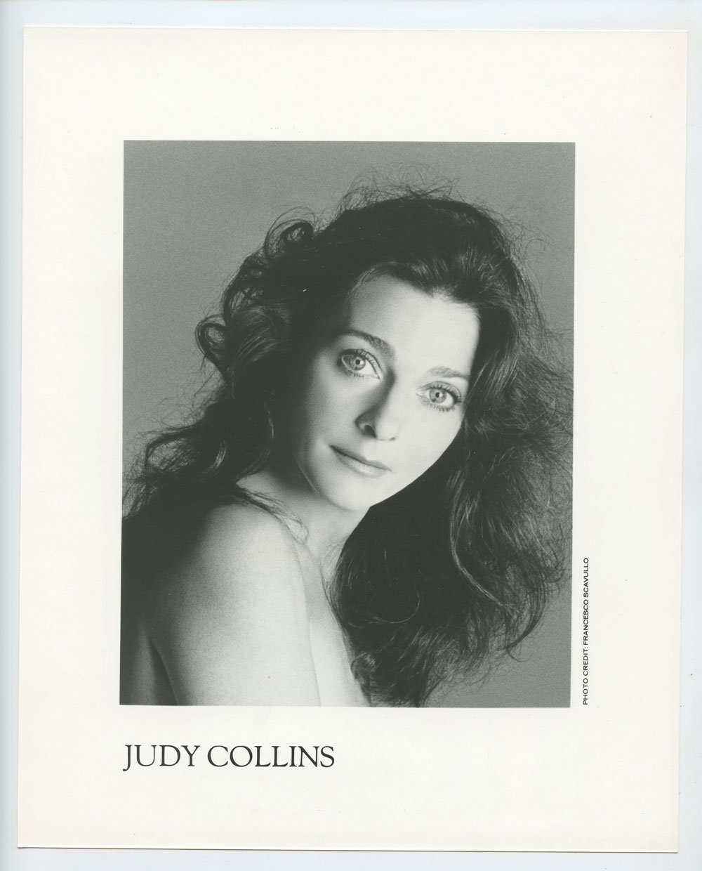 Judy Collins Photo 1988 Sing Out San Francisco Promo Promo