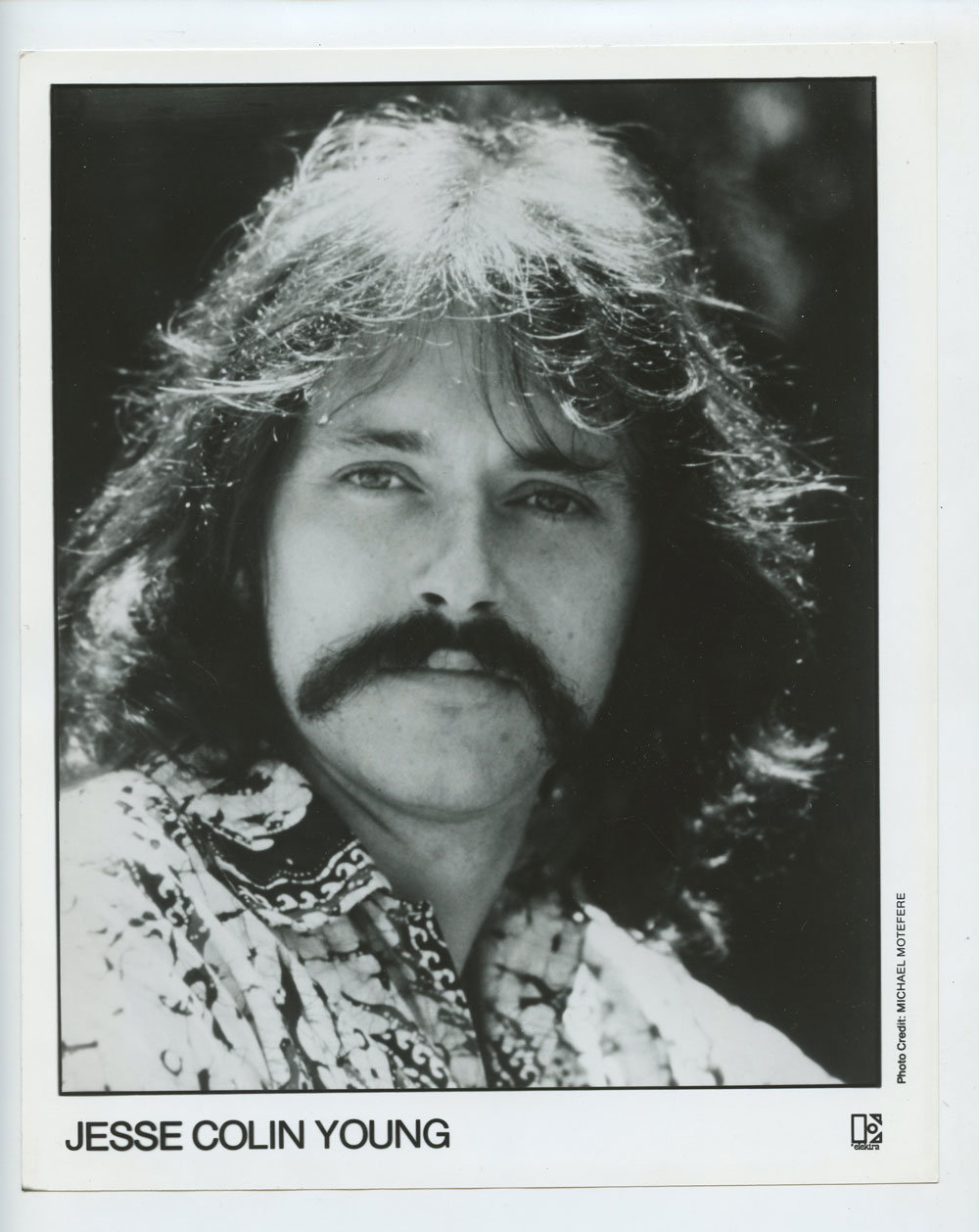 Jesse Colin Young Photo 1978 Publicity Promo Elektra Records