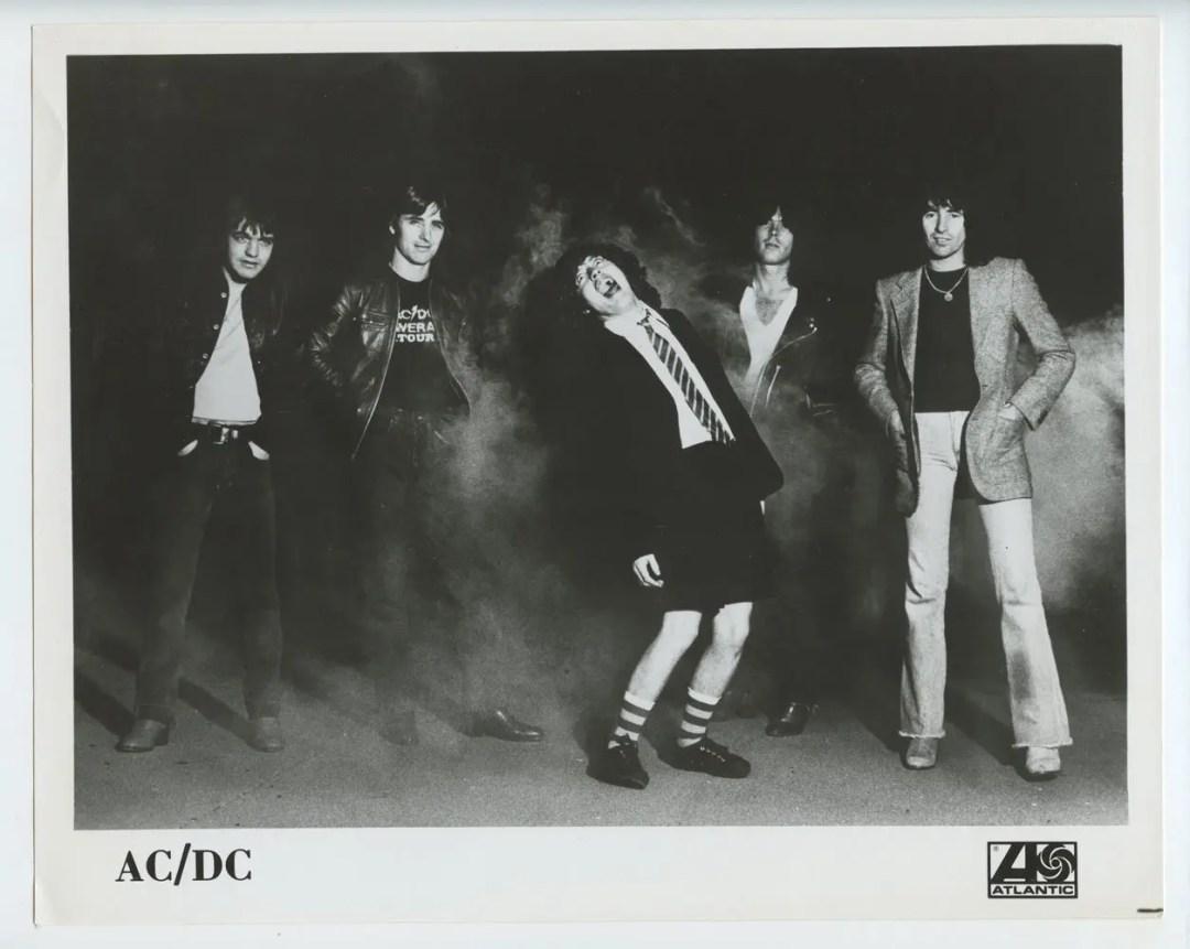 AC/DC Photo 1978 Publicity Promo Atlantic Records