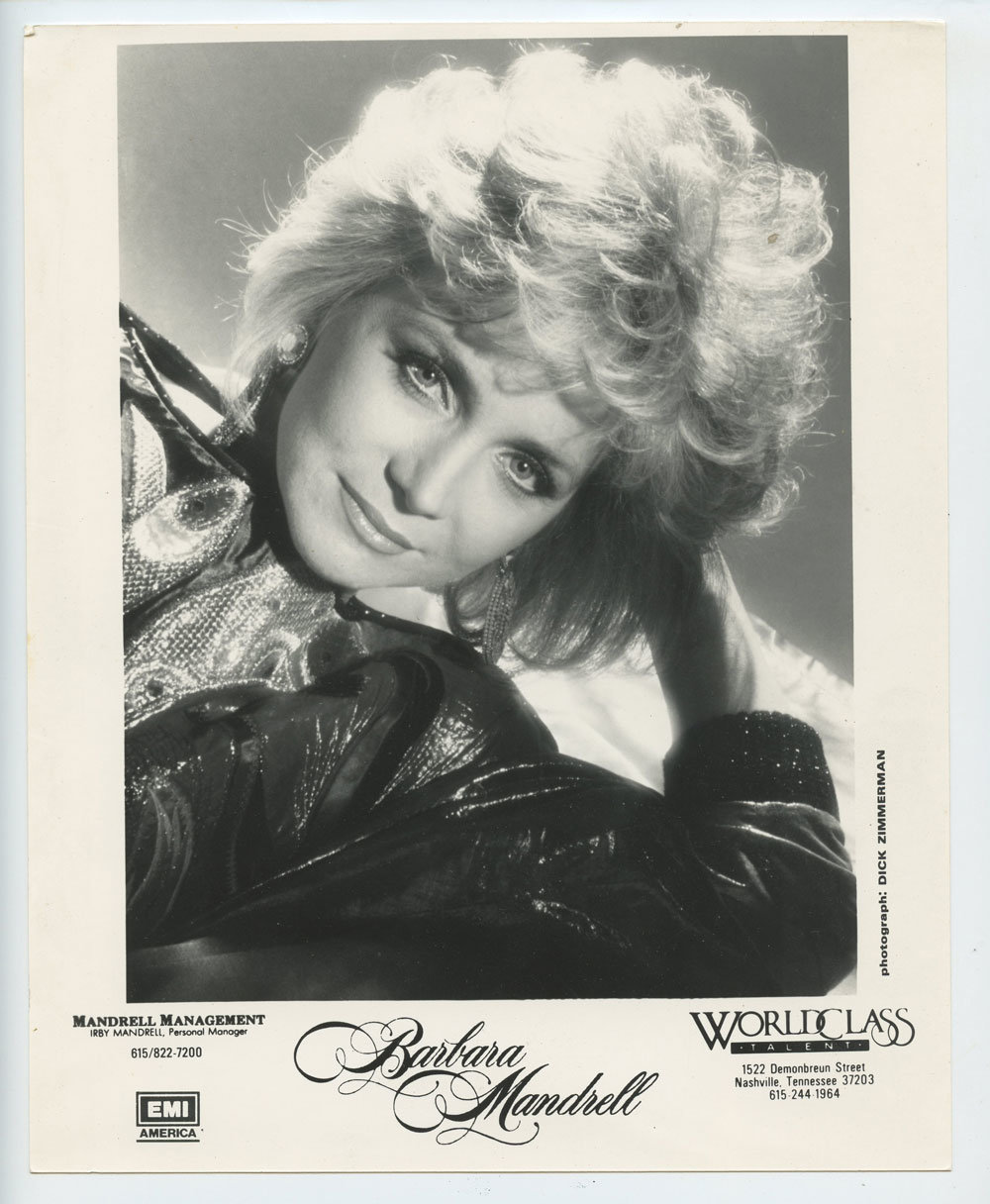 Barbara Mandrell Photo 1980s Publicity Promo EMI Records