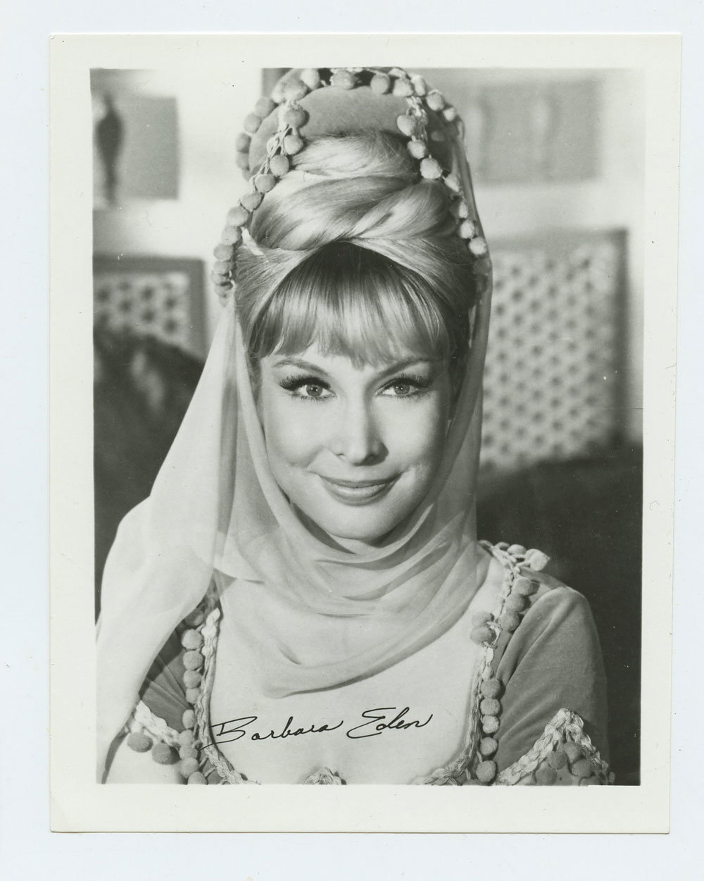Barbara Eden Photo 1965 I Love Jeannie Publicity Photo 4x5