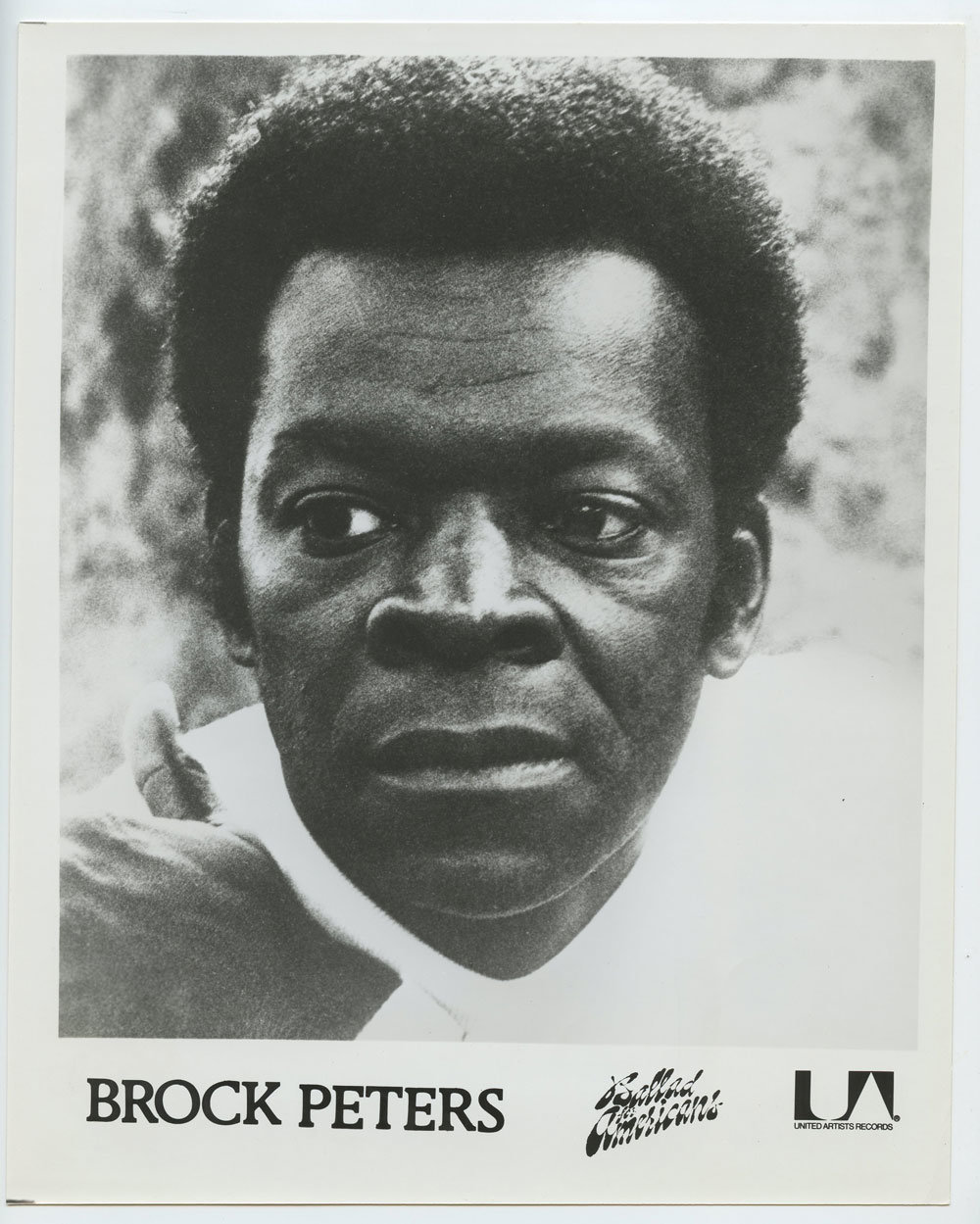 Brock Peters Photo 1976 Publicity Promo United Artists Records