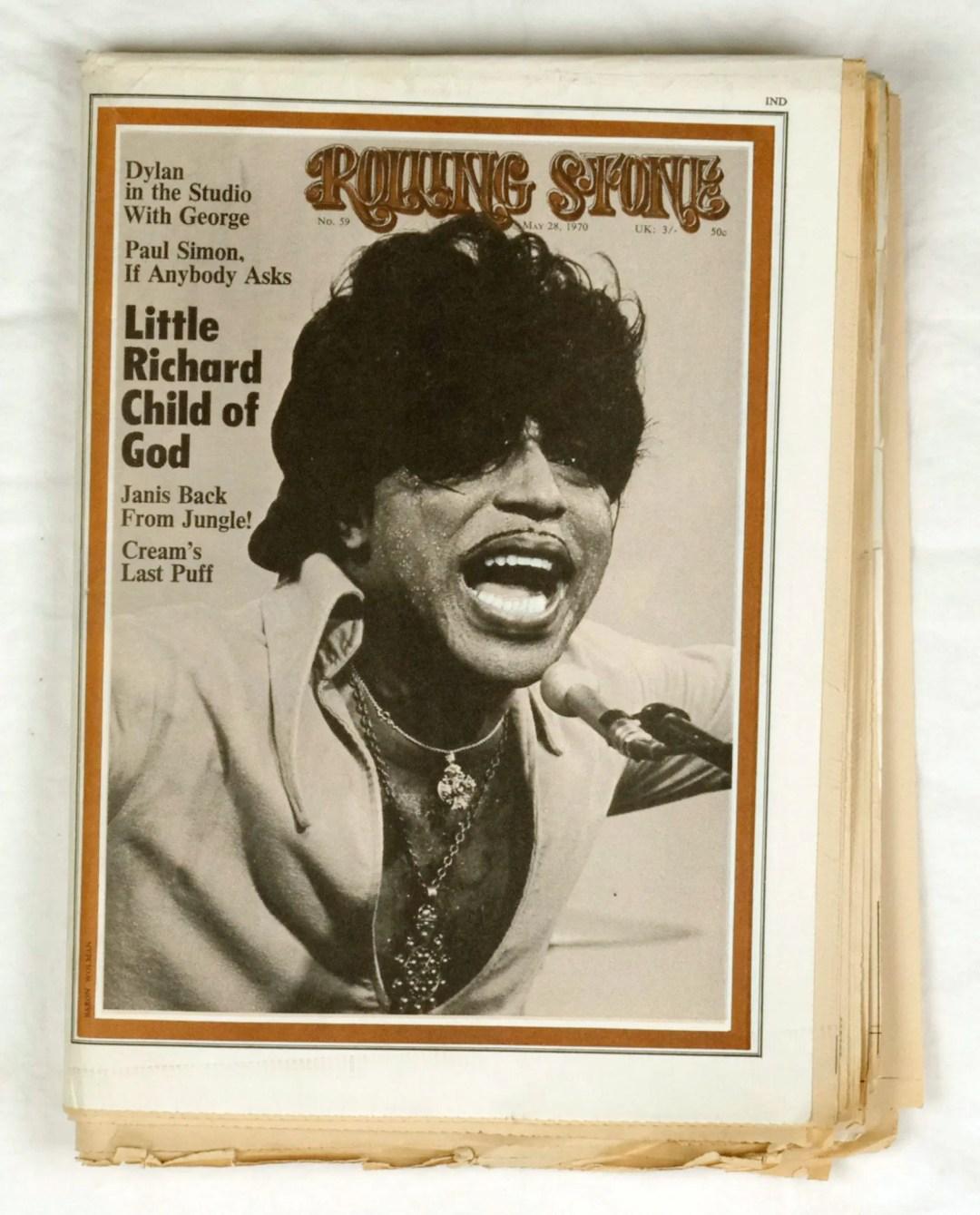 Rolling Stone Magazine 1970 May 28 No. 59 Little Richard