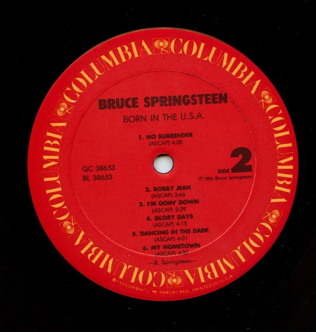 Bruce Springsteen Vinyl Born In The U.S.A. 1984