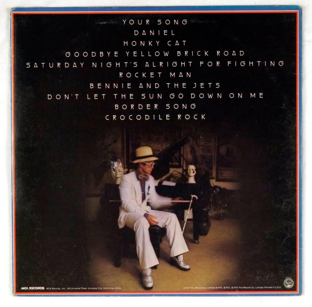 Elton John Vinyl Greatest Hits 1974