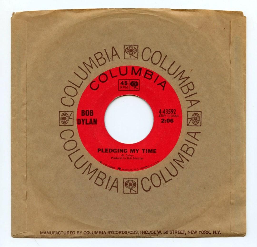 Bob Dylan Vinyl Single Rainy Day Woman #12 & 35 / Pleading My Time 1966