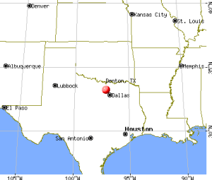 Texas Map Denton