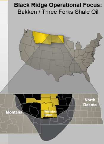 Black Ridge Oil & Gas Asset Location