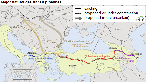 EIA SCPX Pipeline Route and Other Canclled Pipelines