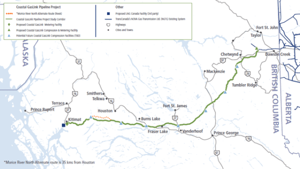 TRP Coastal GasLink Route, TransCanada