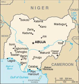 State Department Nigeria Map