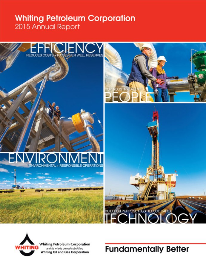 Whiting Petroleum Corporation 2015 Annual Report Cover