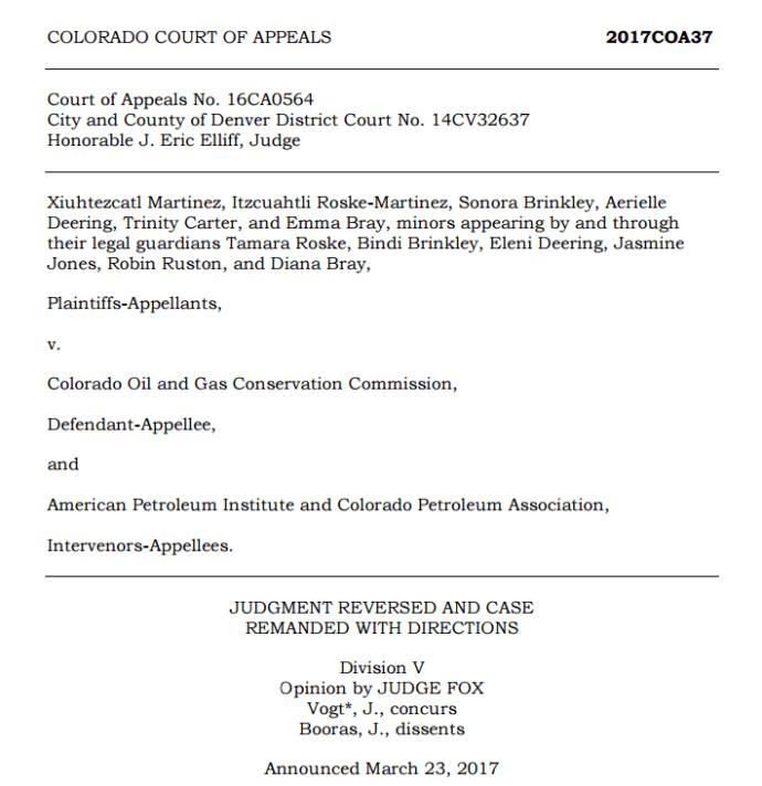 Martinez v. COGCC Decision Could Upend Colorado Oil & Gas Permitting