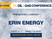 Erin Energy Corporation: Drilling to Double Production