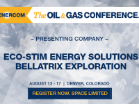 EnerCom Conference Presenters:  Eco-Stim Energy Solutions Revenue Up 233%, Bellatrix Production Up to 38,000 BOEPD