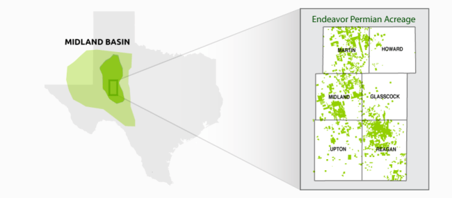 Endeavor Energy Resources Midland Basin Position