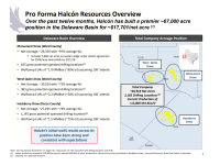 Pro Forma Halcon Resources Overview, Mar. 2018