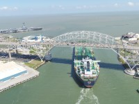 Mt. Astra (Suezmax) Leaving Corpus Christi ship tanker