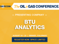 Research Firm BTU Analytics to Present at The Oil and Gas Conference
