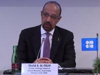 Saudi Arabia Minister of Energy Khalid Al-Falih at OPEC/non-OPEC press conference Dec. 7, 2018.