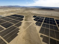 Under a 25-year contract, Glendale utility officials will be getting 25MW of record-cheap solar energy from the Eland solar project. It will increase the city's renewable energy portfolio by about 9%. Above are photovoltaic cells in western Kern County. (Mel Melcon / Los Angeles Times)