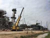 A liquefied natural gas export facility under construction near Quintana, Texas in 2018. TRAVIS BUBENIK / COURTHOUSE NEWS SERVICE