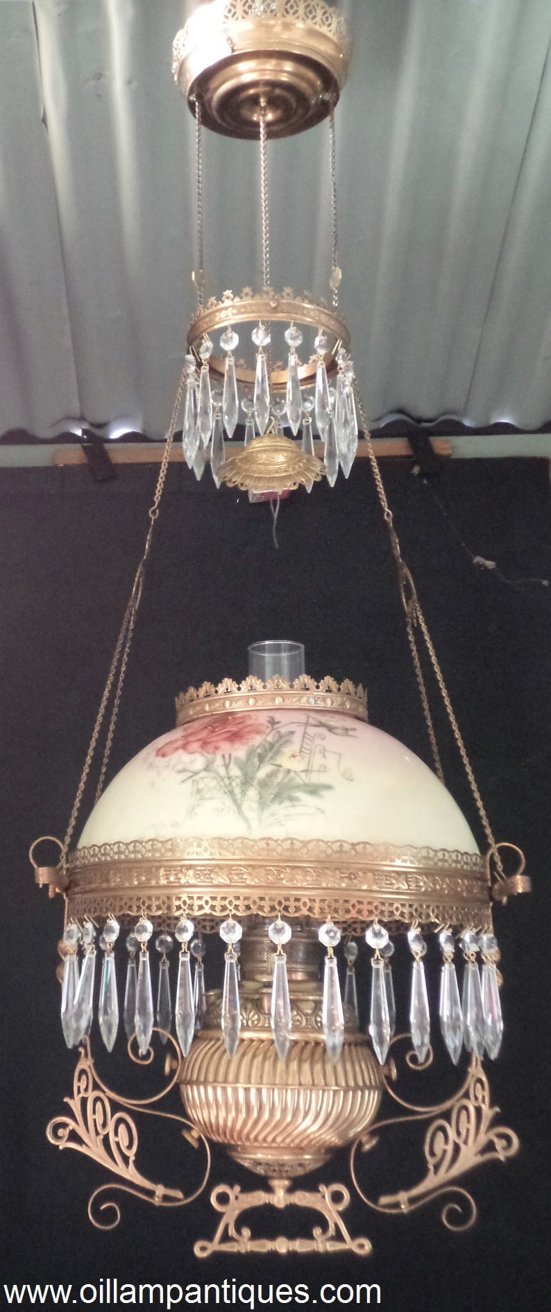 Miller Hanging Lamp For Sale Oil Lamp Antiques