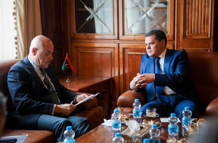 Libya PM ENi CEO Meet in Tripoli