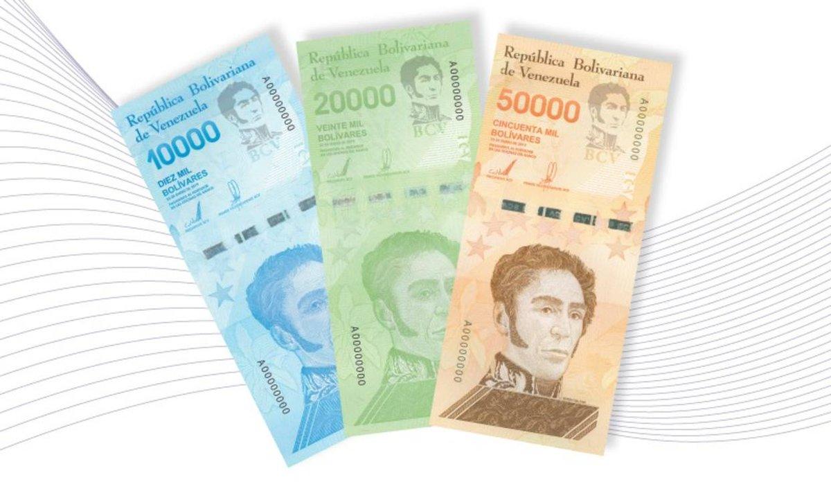 Venezuela imprime billetes alta denominación hiperinflación