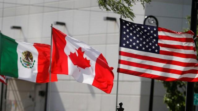 banderas del TMEC, T-MEC, México, Canadá, Estados Unidos, Tratado Comercial