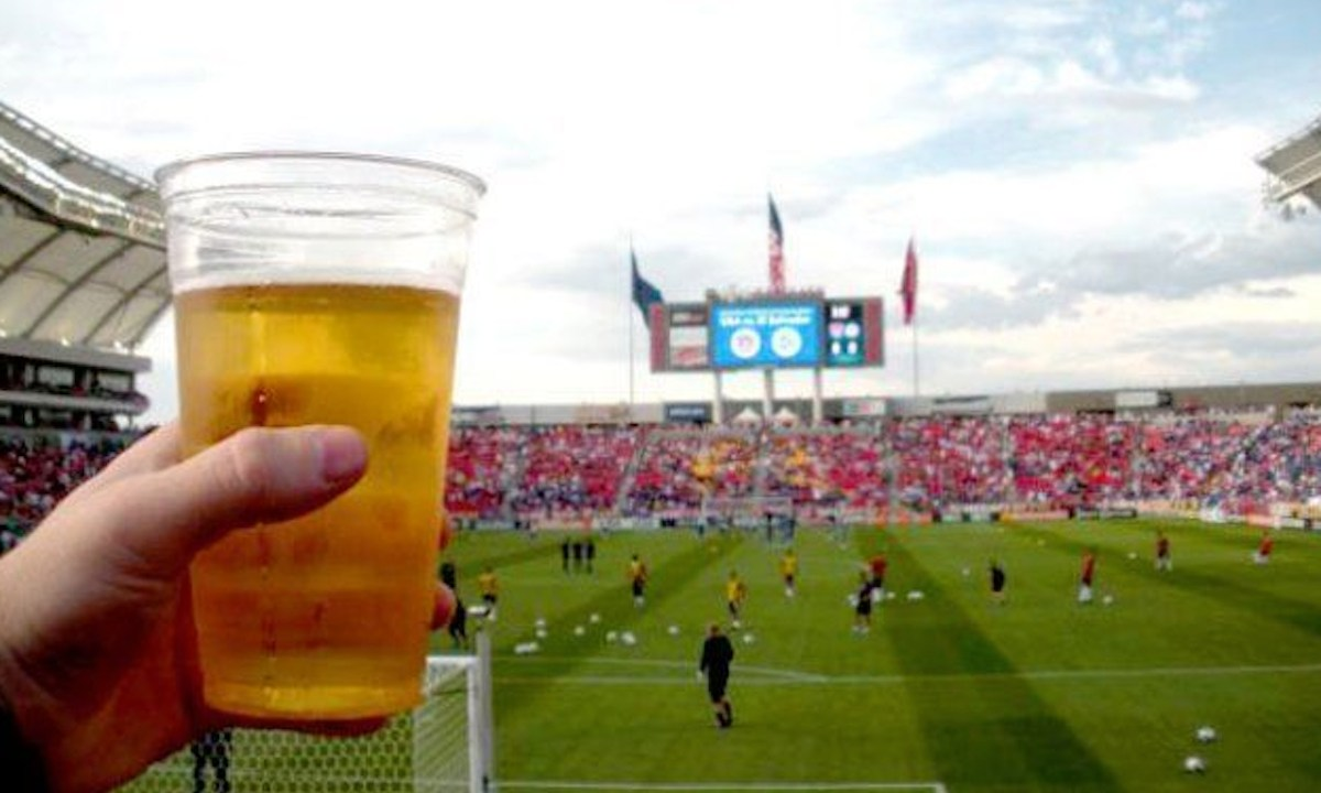 Cerveza en el estadio