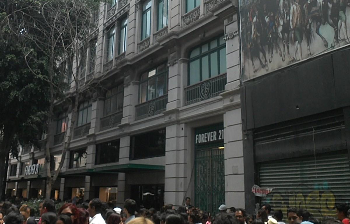 magen: Facha de tienda Forever 21 en calle Madero, CDMX, 29 de octubre de 2019 (Imagen: Especial)