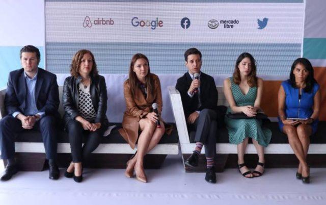 Representantes empresas tecnológicas conferencia prensa CDMX (Imagen: Especial)