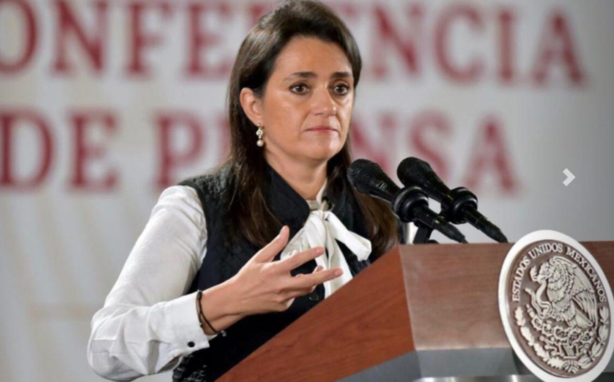 Imagen: Margarita Ríos-Farjat, titular del Servicio de Administración Tributaria (SAT), 22 de octubre de 2019 (Imagen: Especial)