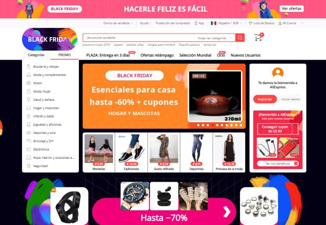 29 noviembre 2019, portal aliexpress, tienda online, sitio web, tienda de ropa, accesorios, artículos
