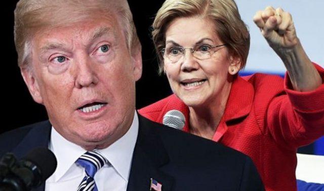 Imagen: Donald Trump y Elizabeth Warren, 13 de noviembre de 2019 (Imagen: Especial)