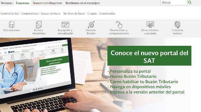 19 de diciembre 2019, Portal SAT, sitio web, portal, Servicio de Administración Tributaria