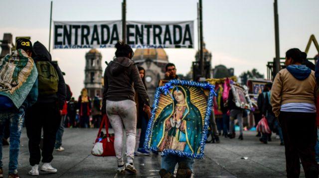 12 de diciembre de 2019, Basílica de Guadalupe, Virgen de Guadalupe, dinero, peregrinos de distintos puntos del país acuden a la Basílica de Guadalupe (Imagen: Especial)