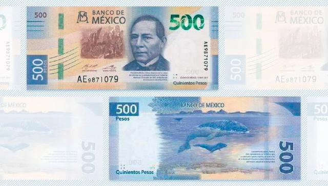 24 de enero 2020, 500 pesos, Billete, Billete de 500 pesos, Dinero, Moneda Nacional