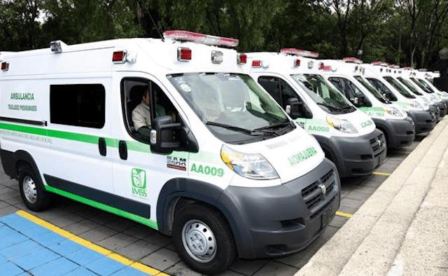 14 de enero 2020, ambulancias, imss