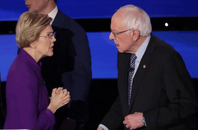 30 de enero 2020, Bernie, Sanders, Elizabeth, Warren