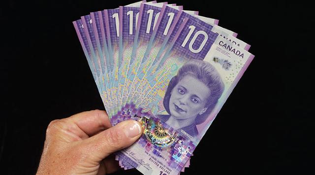 24 de enero 2020, Dinero canadiense, 10 Dólares, Billetes, Viola Desmond