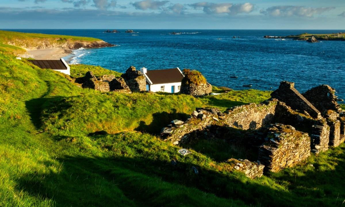 17 de enero 2020, Isla irlandesa trabajo, Isla, Naturaleza, Paisaje, Trabajo, Casa