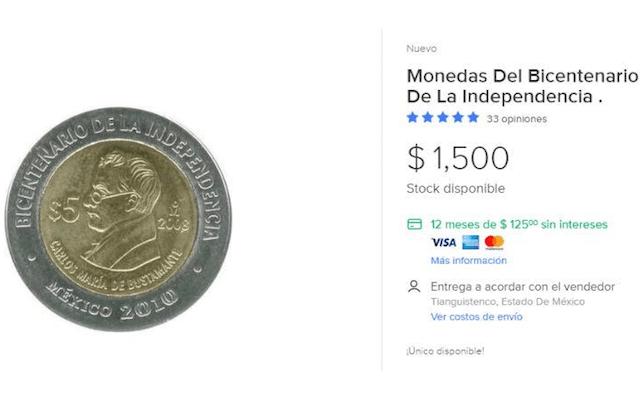 15 de enero 2020, moneda, conmemorativa, 5, pesos