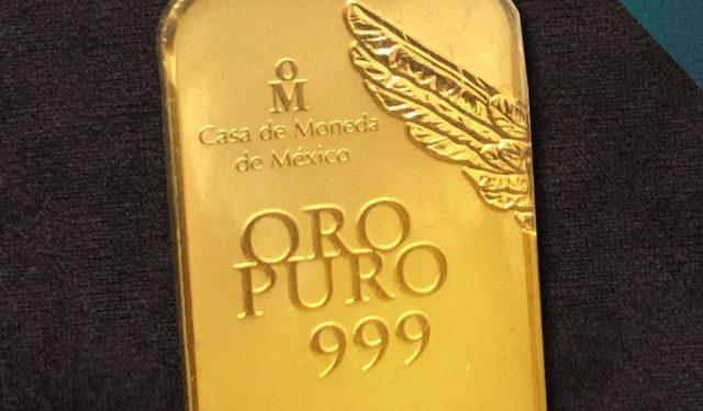 Onza de oro (Imagen: Twitter @CasadeMonedaMx)