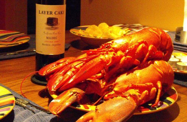4 de febrero de 2020, cena de langosta y vino (Imagen: Especial)