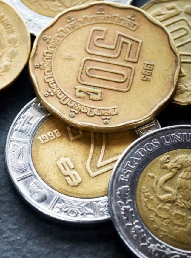 Monedas peso mexicano (Imagen: Twitter @pasionpin