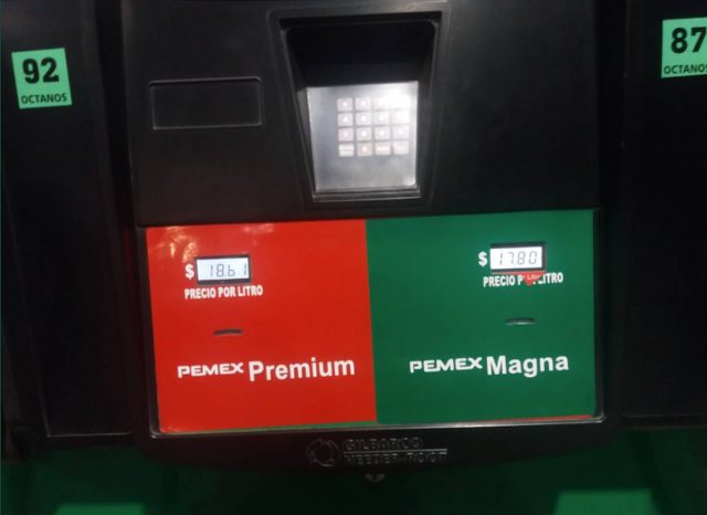 18 de marzo de 2020, precio de gasolina en la CDMX (Imagen: Twitter @davidhcastel)