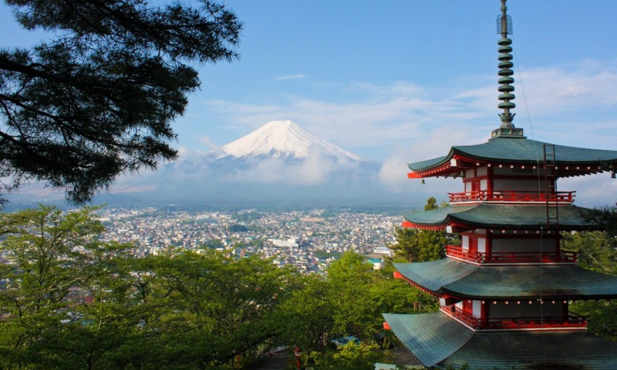 Vista del monte Fuji, en Japón (Imagen: Unsplash