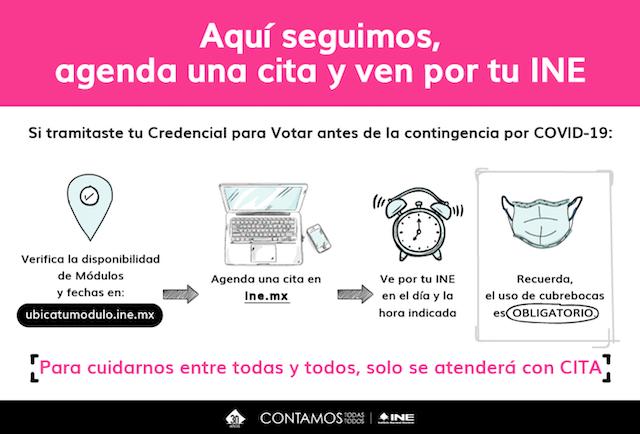 INE, Credencial de Elector, Citas, Agendar